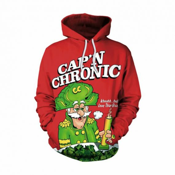 3D Sweatshirts Cap'n Chronic