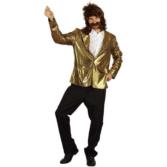 Crazy Halloween Costumes Disco Golden Jacket