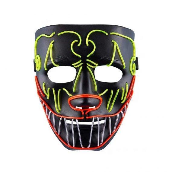 Bat Face Crazy Lightning Halloween Mask