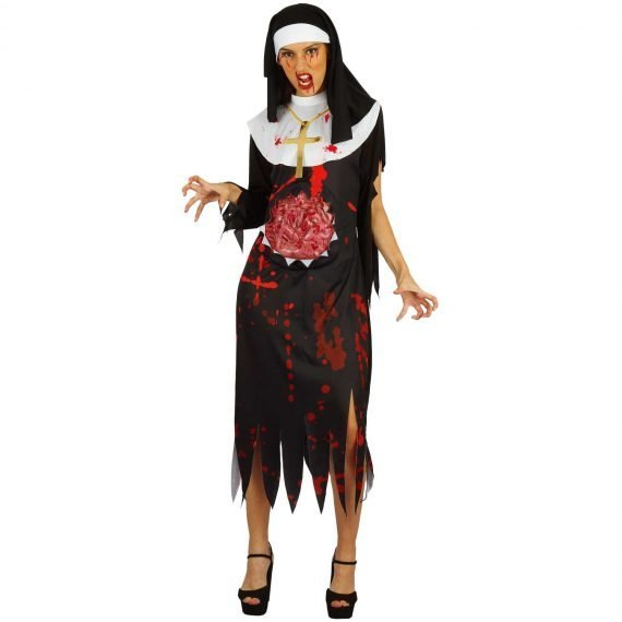 Bloody Nun Scary Halloween Holiday Outfit 2019