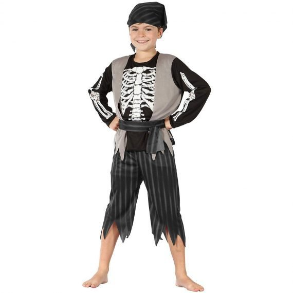 Boys Crazy Skeleton Pirate Costume for Halloween 2019