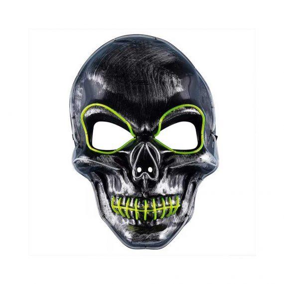 Demon Skeleton Light Up Halloween Face Mask