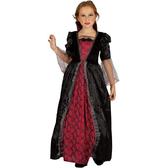 Scary Victorian Vampiress Costume for Kids Girls