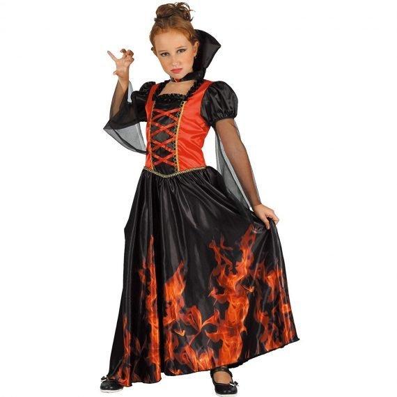 Scary Halloween Kids Girls Vampiress Costume