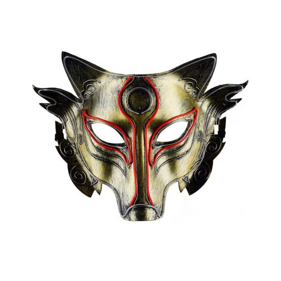 Light up Cool and Scary Wolf Lightning Halloween Mask