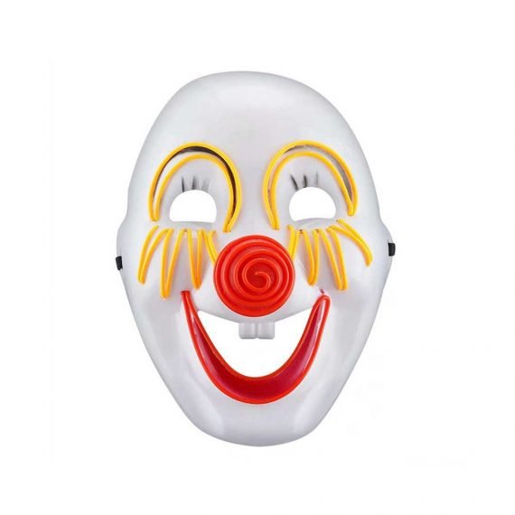 Light Up Scary Clown Mask for Halloween Holiday Party