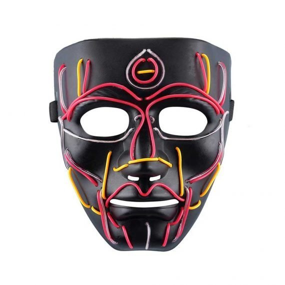 Scary LED Creature Halloween Face Mask 2019