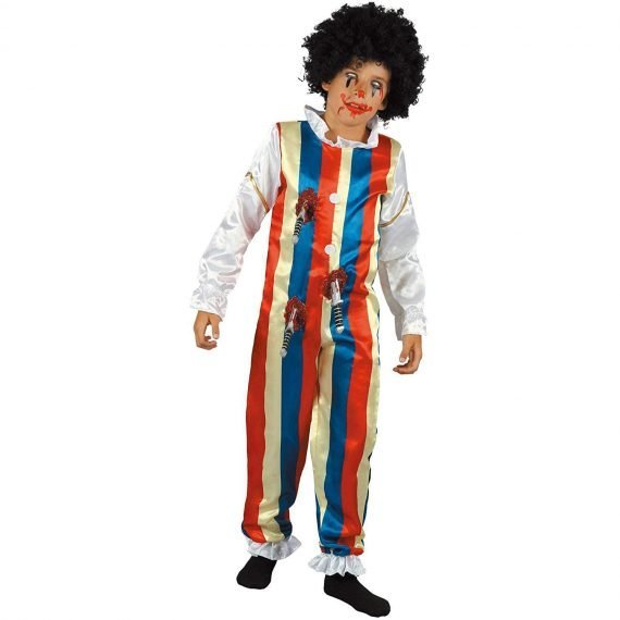 Scary Zombie Clown Halloween Costume for Kids Boys