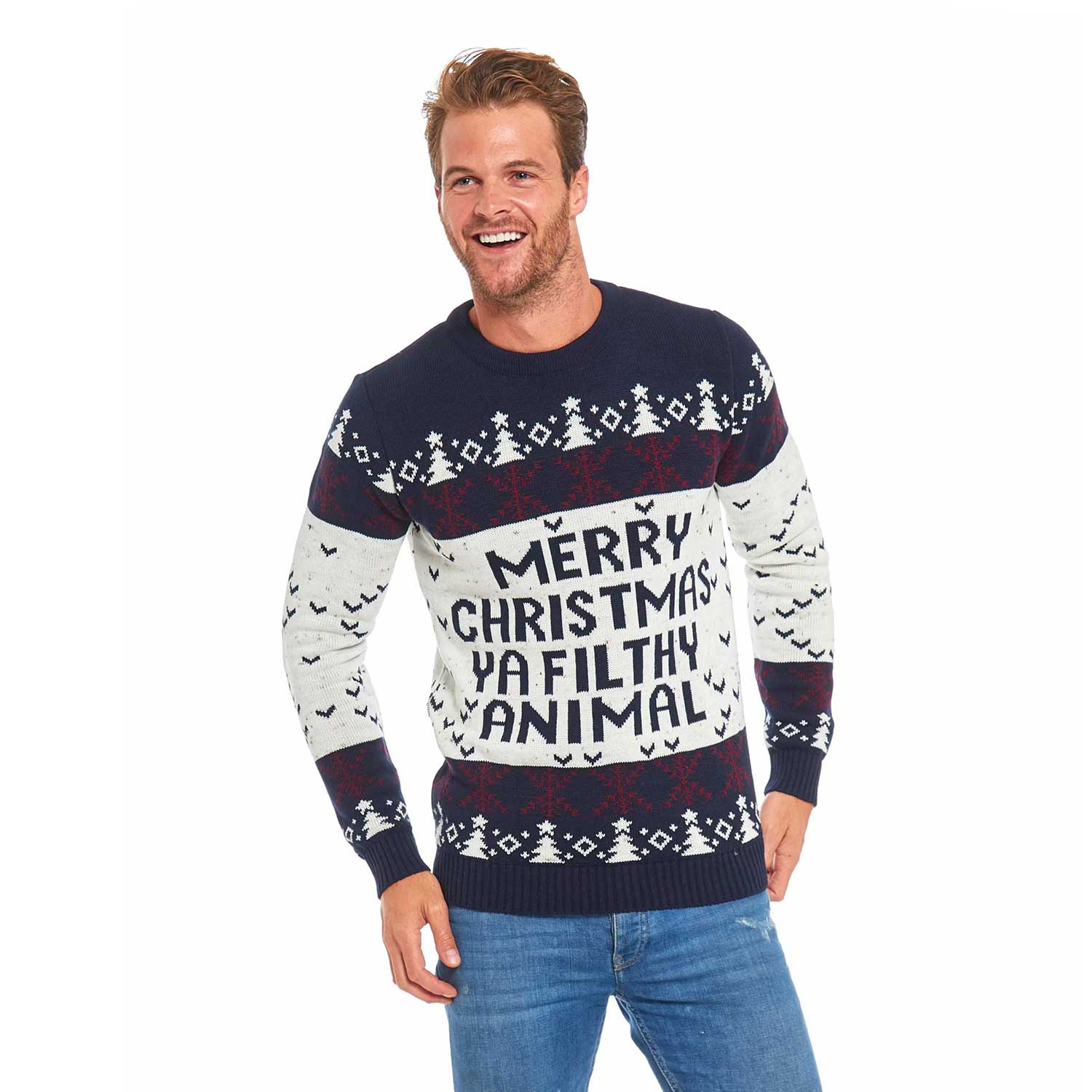 Classic Novelty Mens Ugly Christmas Sweater You Look Ugly Today