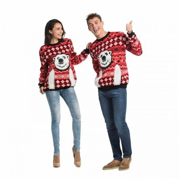 Couple Ugly Christmas Sweater Express Your Polar Bear