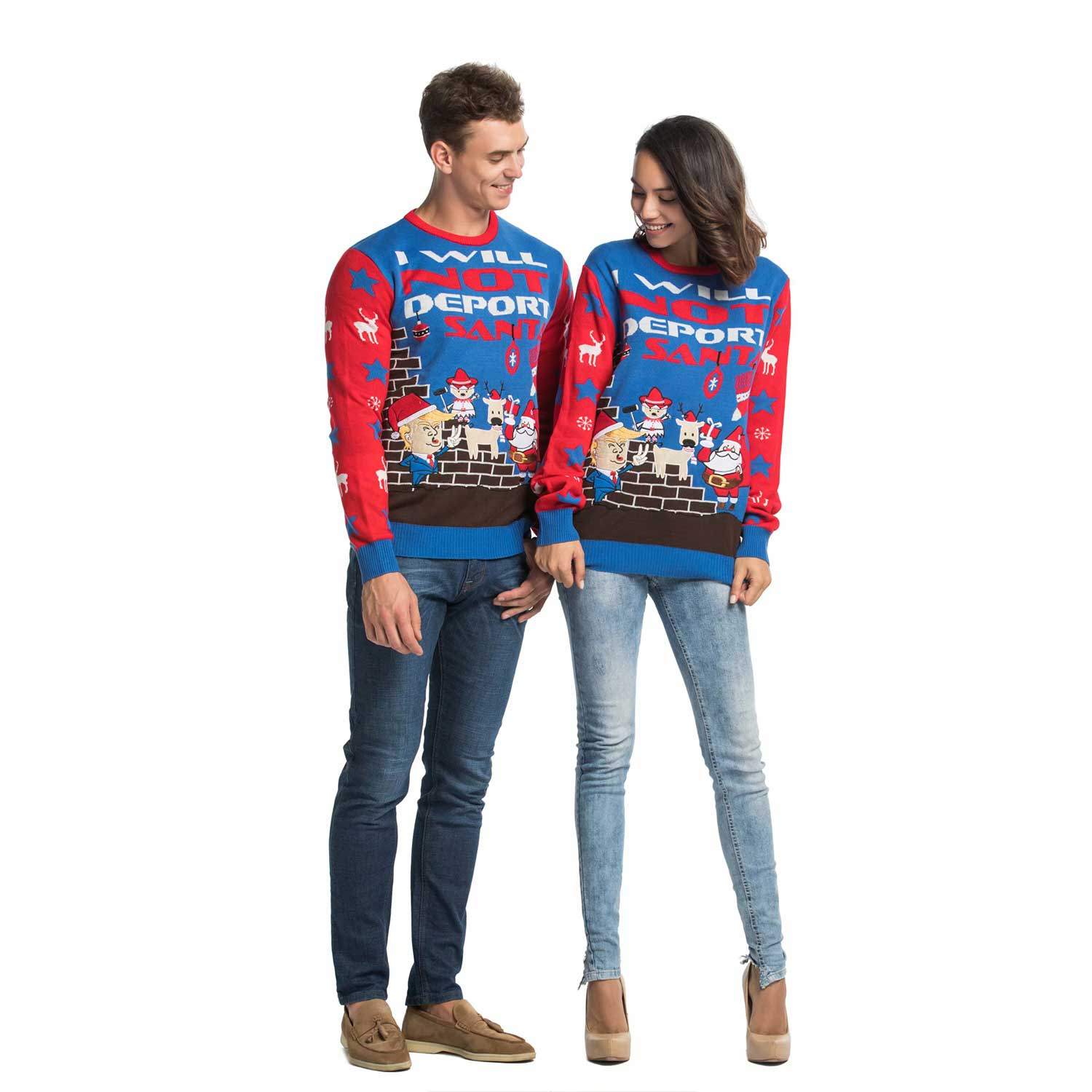 Trump Christmas Sweater.Funny Rude Trump Couples Ugly Christmas Sweater