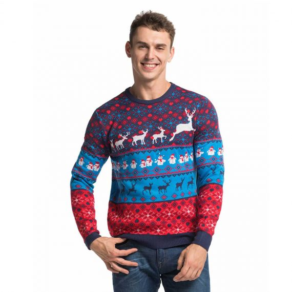 Mens Christmas Sweaterss Cool Classic Fair Isle Front