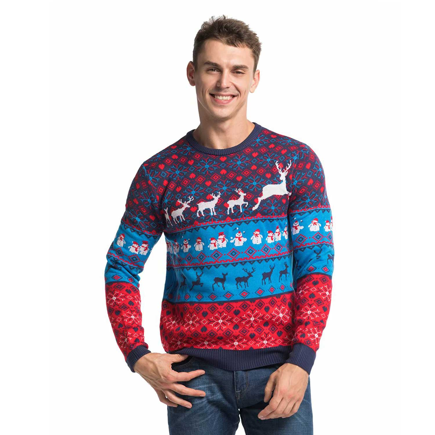 6fb859a9a3 Mens Christmas Sweaterss Cool Classic Fair Isle Front