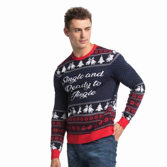 Single Ready to Jingle Mens Christmas Sweater