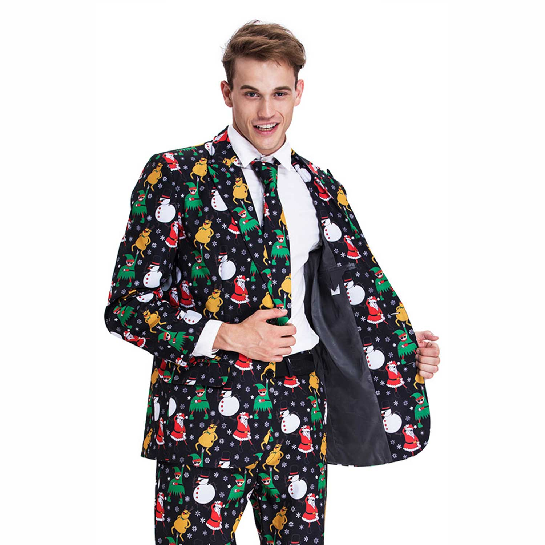 Christmas Suit Mens Funny Elf Santa Snowman Dancing