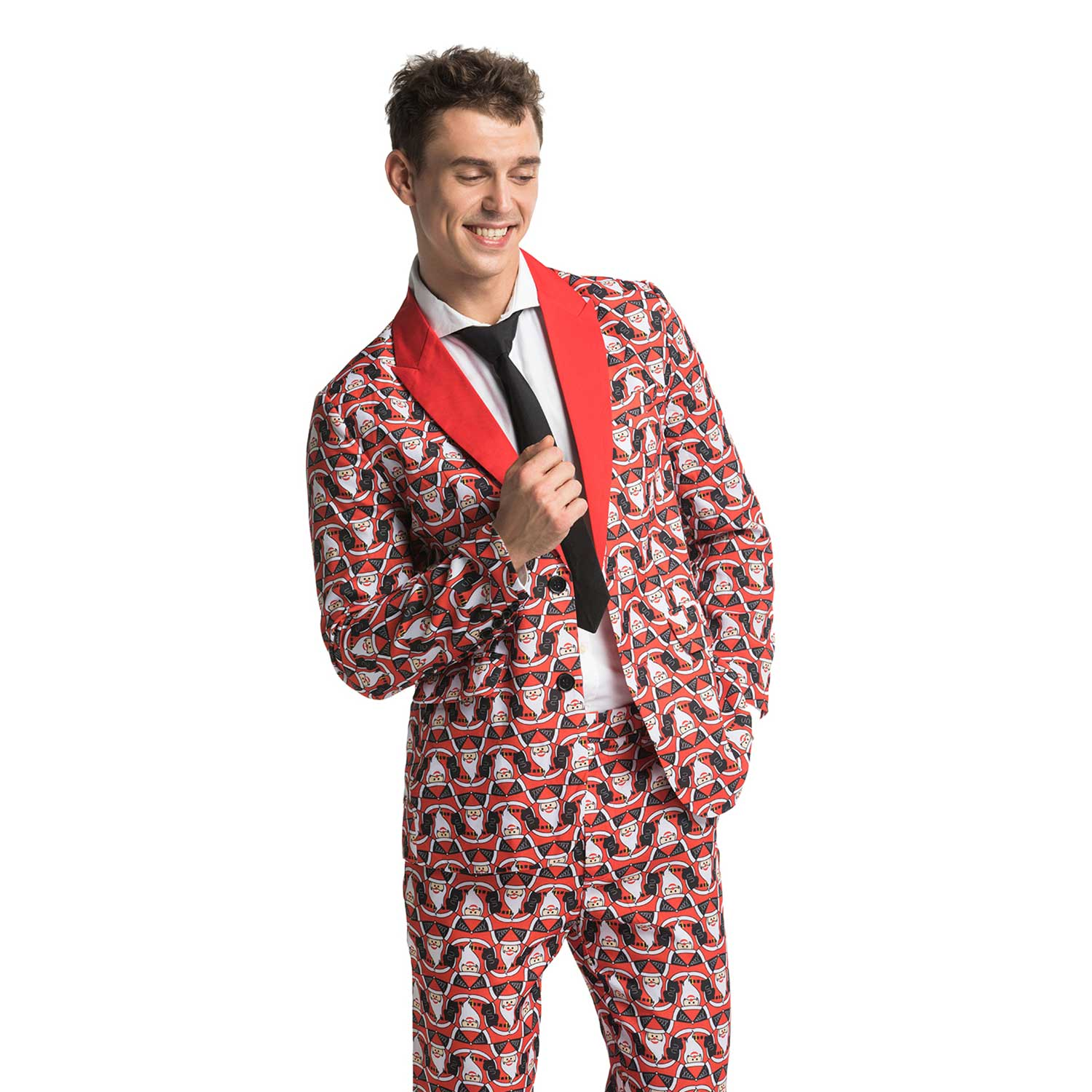 Christmas Suit.Ugly Freaky Fat Santa Men S Holiday Suit