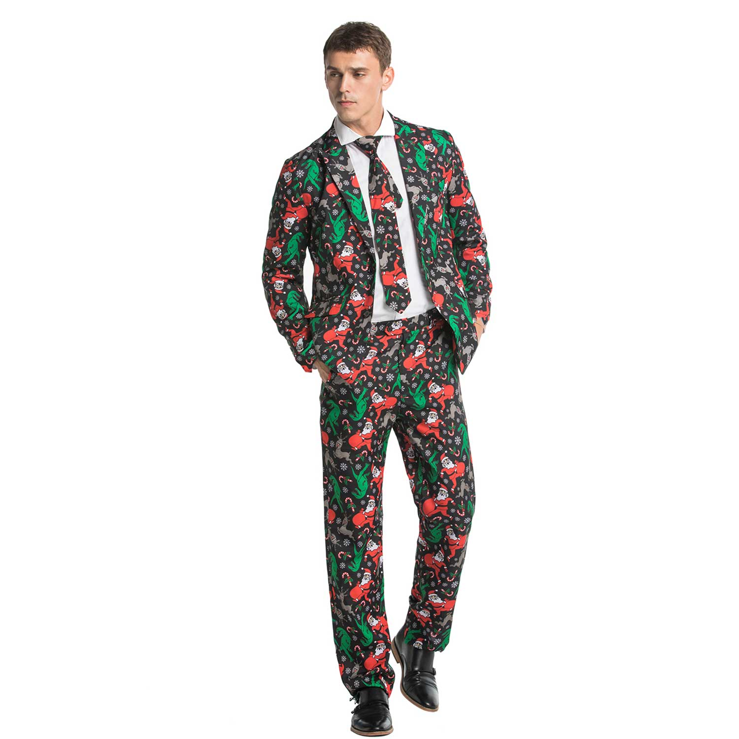 Funny Dinosaur Party Men's Christmas Suits | You Look Ugly ...