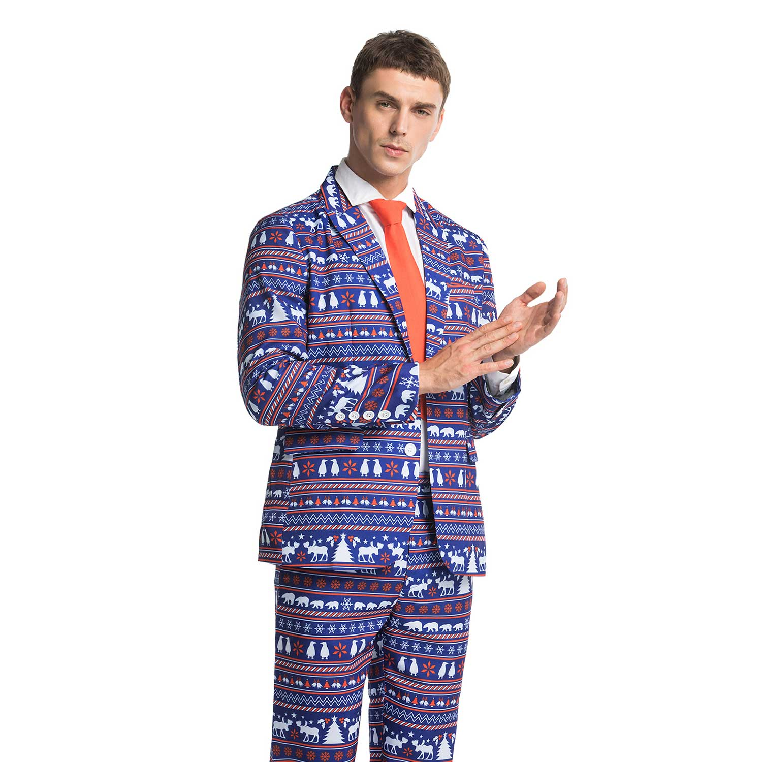 4133605b1 Funny Penguin Polar Bear Men's Christmas Suit | You Look Ugly Today