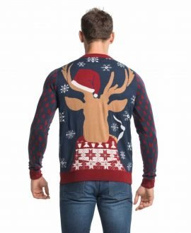 Led Light Up Dinosaur Mens Christmas Sweater You Look Ugly Today
