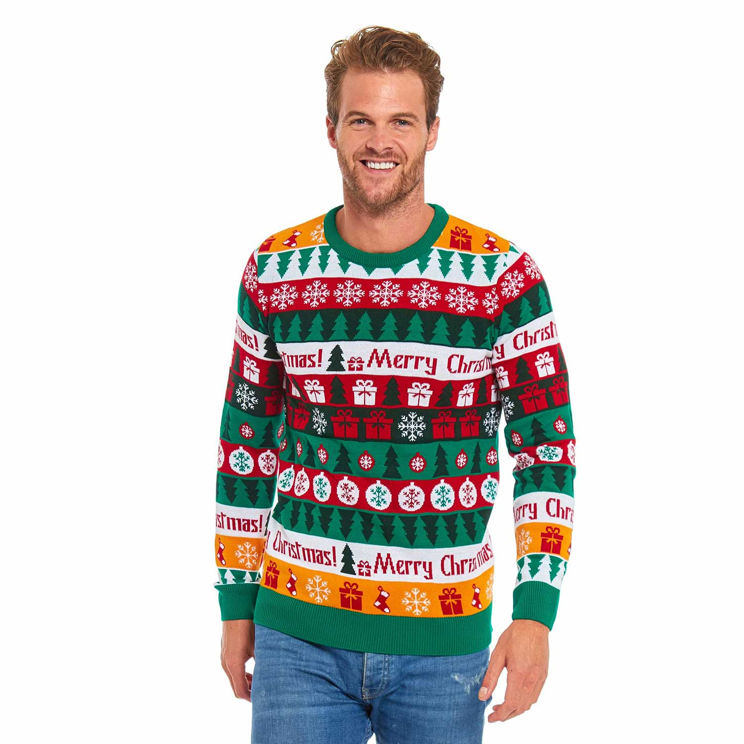 Funny Xmas Tree Gift Pullover Mens Christmas Sweater You Look