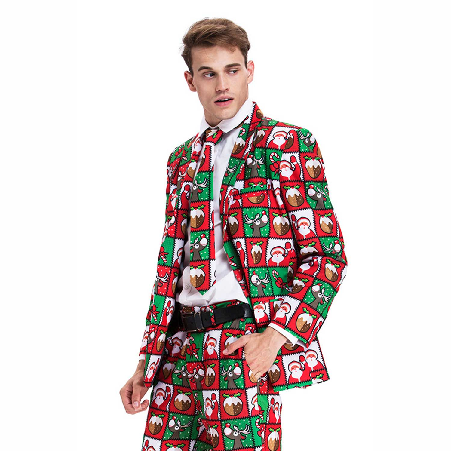Christmas Suit.Rein Of The Pud Ugly Christmas Suit Mens