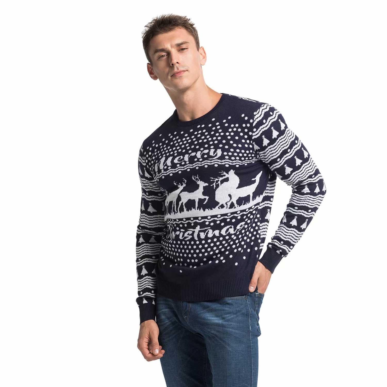 Mens Christmas Sweaters.Rude Reindeer Romping Men S Christmas Sweater