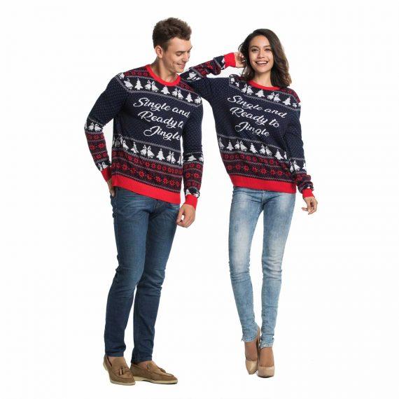Single Ready to Jingle Couples Funny Christmas Sweater