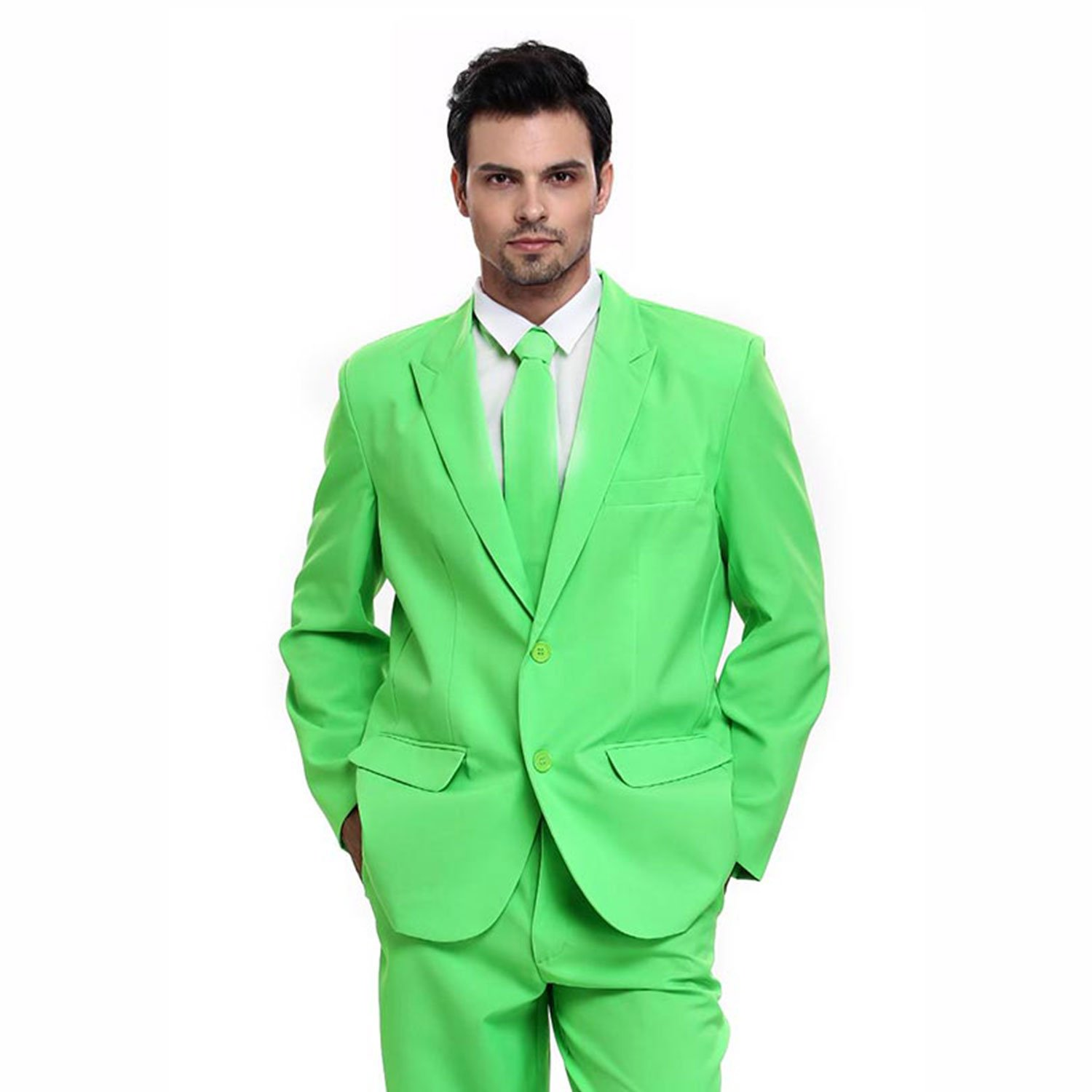 Christmas Party Suit Men.Stunning Neon Green Christmas Party Suit