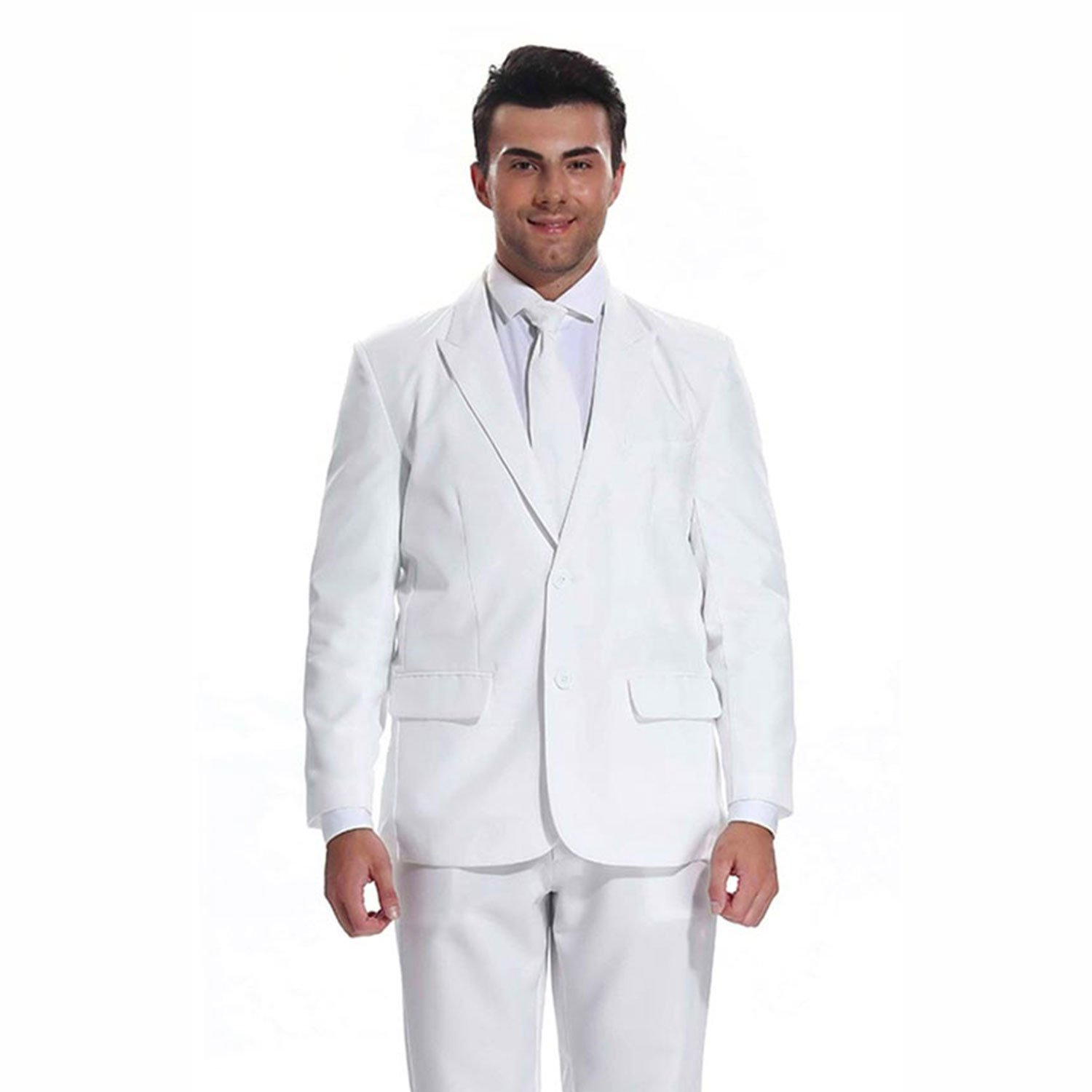 Christmas Party Suit Men.Solid White Color Men S Christmas Suits