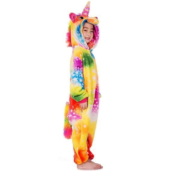 Colorful Unicorn Animal Onesies Pajamas for Kids