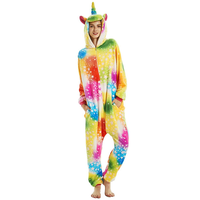 e9e571da2ff0 Colorful Unicorn Animal Onesies Pajamas for Women