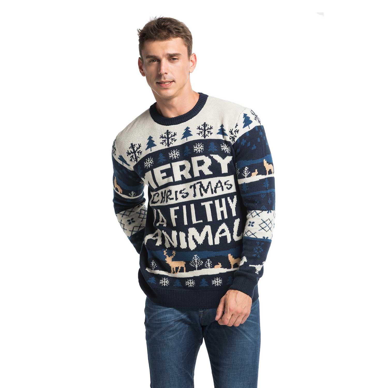 Fair Isle Rude Slogan Men\'s Christmas Sweater
