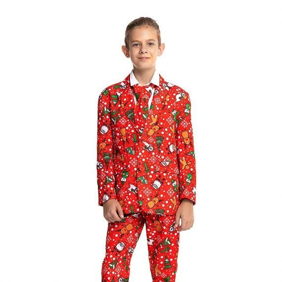 Funny Bear Party Kids Christmas Suit