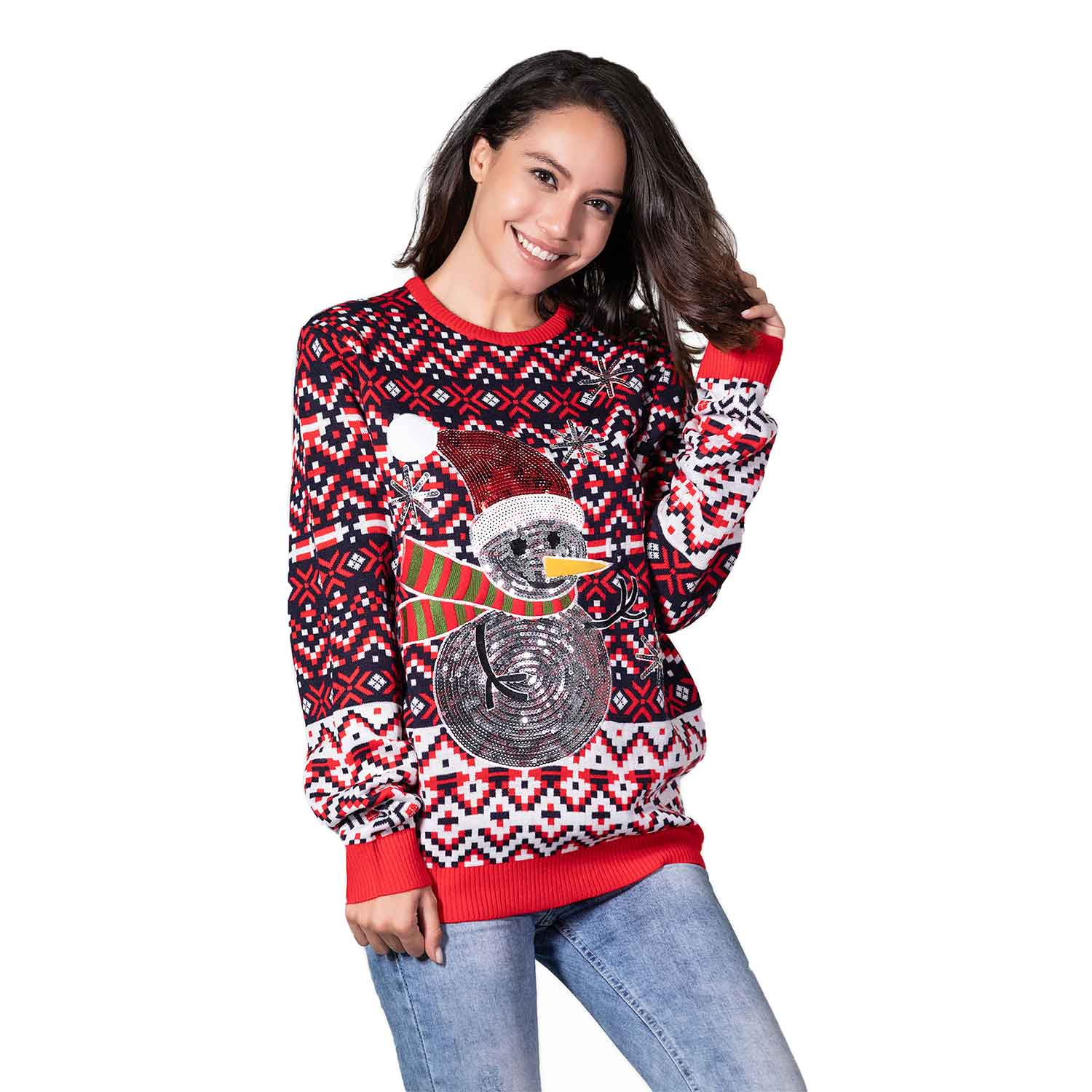5b4e2f752d4 Go Snow Fabulous Women's Ugly Christmas Sweater