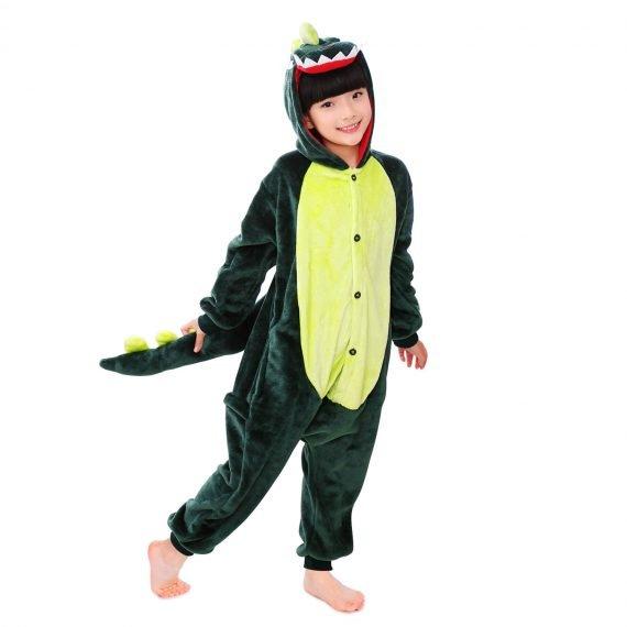Green Dinosaur Animal Onesies for Kids