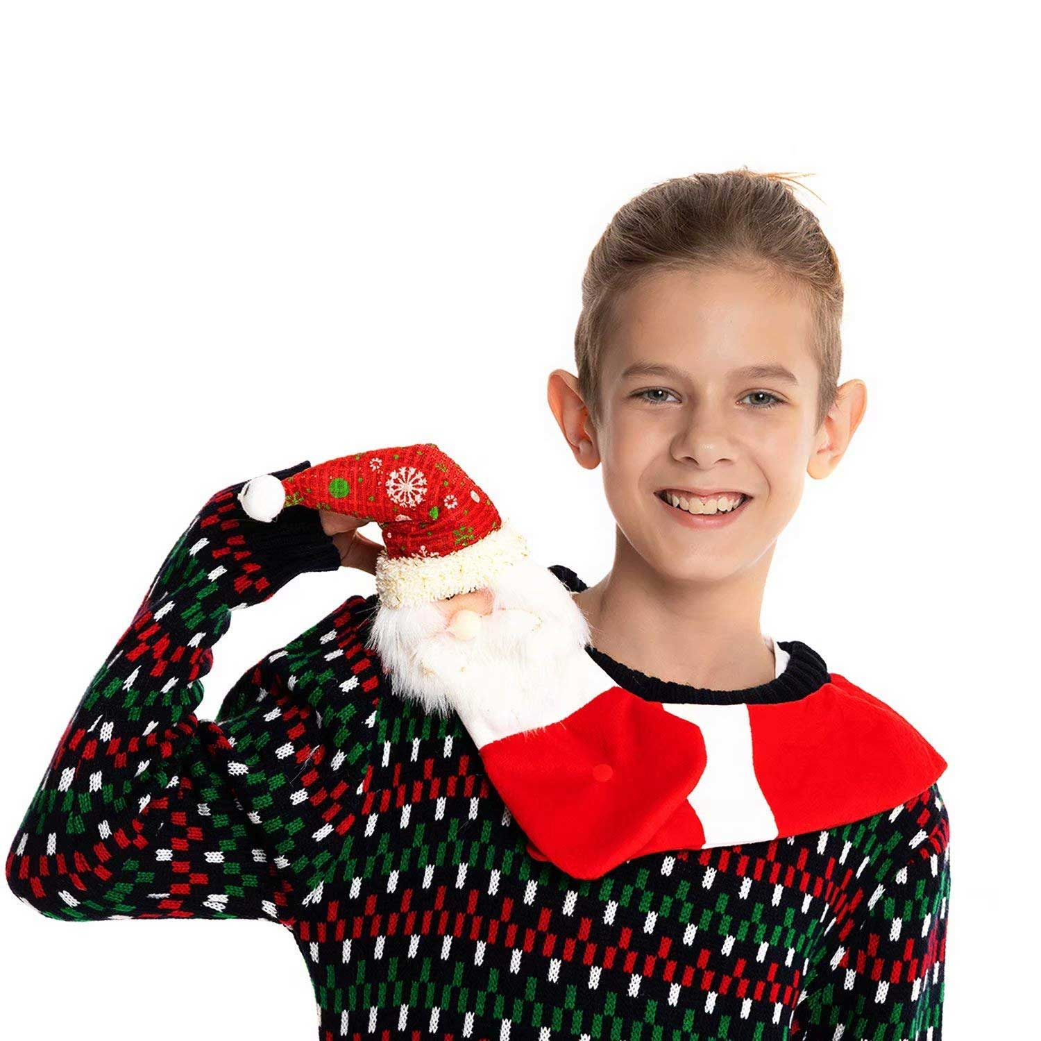 Hang Out with Santa Kids Ugly Christmas Sweater | You Look Ugly Today
