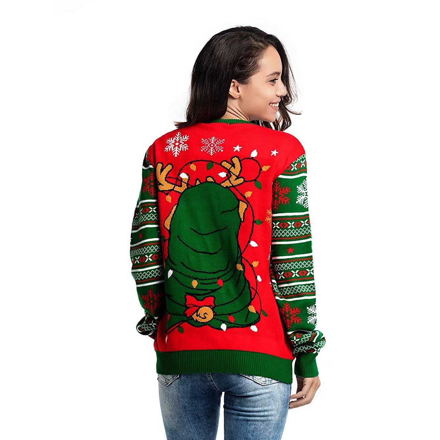 Led Light Up Women S Ugly Christmas Sweater You Look