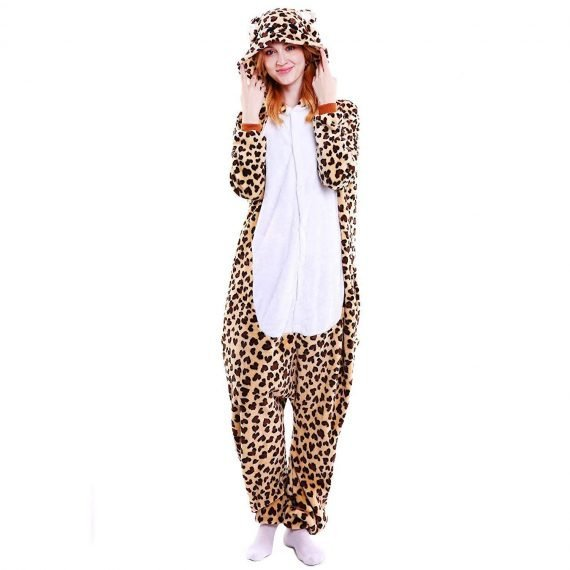 Leopard Bear Animal Onesies Pajamas with Hoods