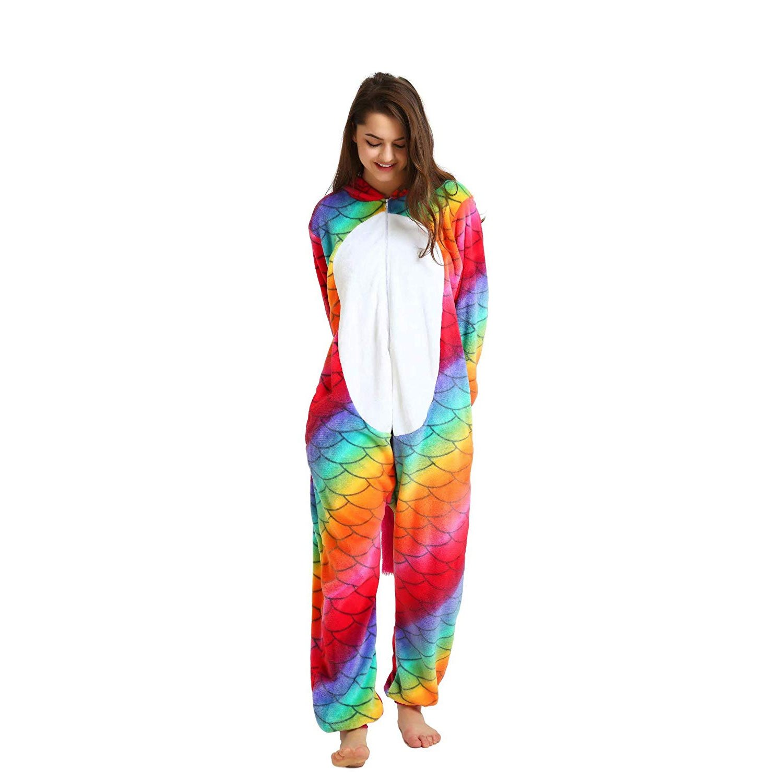 7466cb1fe52f Perlage Unicorn Animal Onesies Pajamas for Women