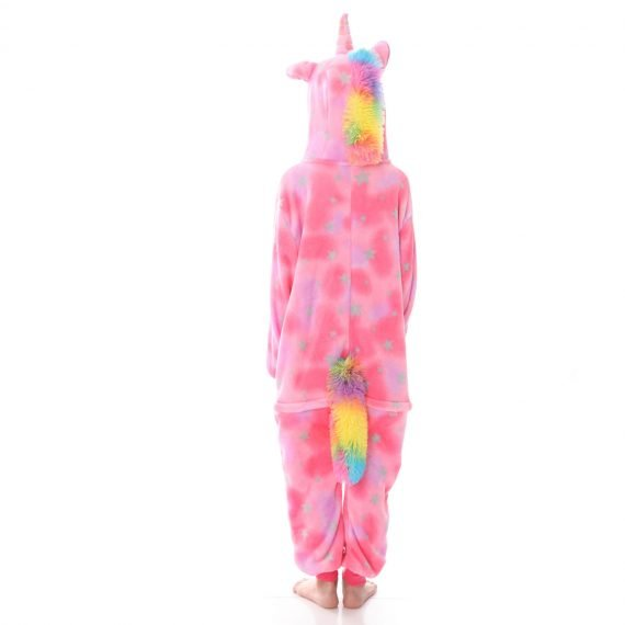 Pink Eyes Closed Unicorn Animal Onesies for Kids
