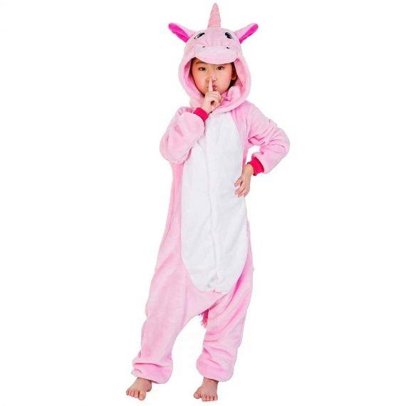 Pink Unicorn Animal Onesies Pajamas for Kids