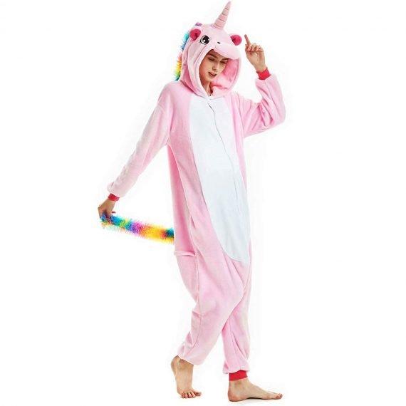 Pink Unicorn Animal Onesies Pajamas for Women