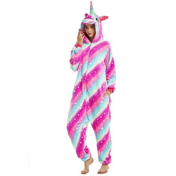 Rainbow Unicorn Animal Onesies Pajamas for Women