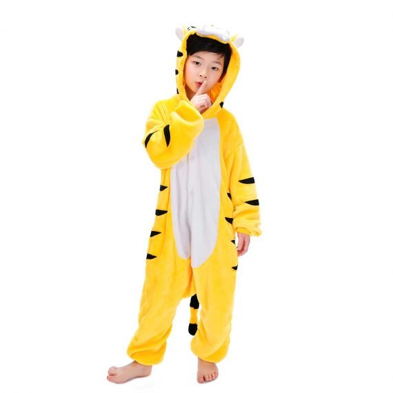Yellow Tiger Animal Onesies for Kids
