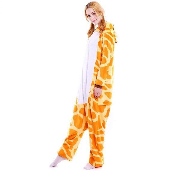 Yellow Unicorn Animal Onesies Pajamas for Adults