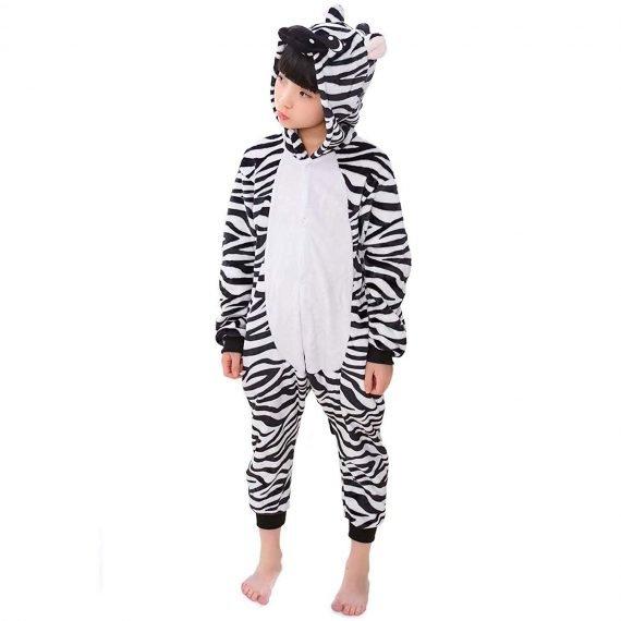 Zebra Animal Onesies Pajamas for Kids