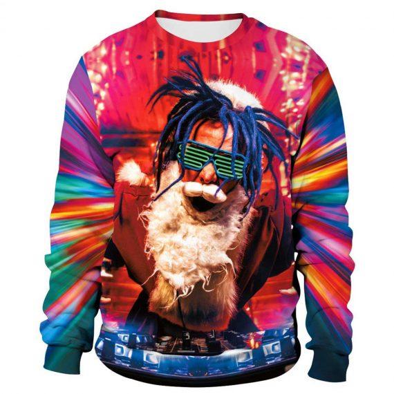 DJ Santa 3D Printed Sweatshirts