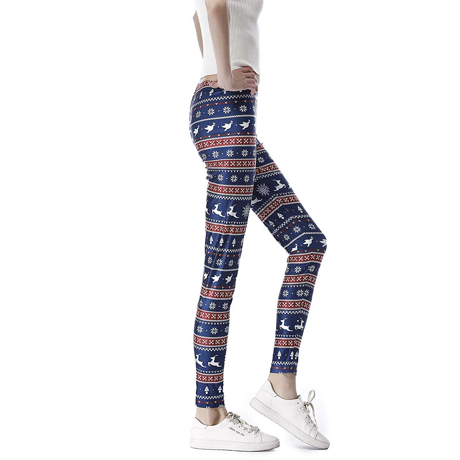 d6f69ccab4ce2b Fair Isle Women's Christmas Leggings & Tights | You Look Ugly Today