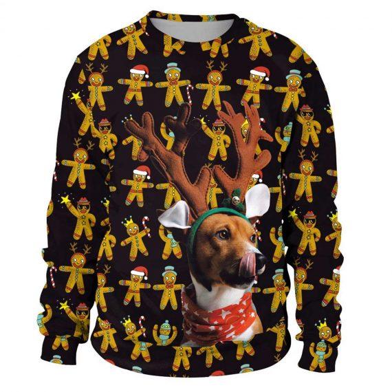 Reindeer Dog 3D Printed Sweatshirts