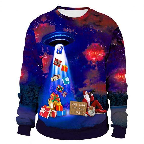 Santa Gift 3D Printed Sweatshirts